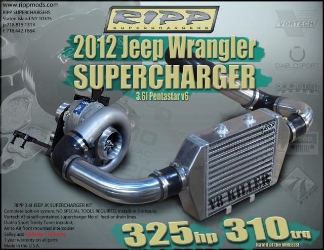 RIPP Superchargers 2012 3.6L Supercharger Release SALE